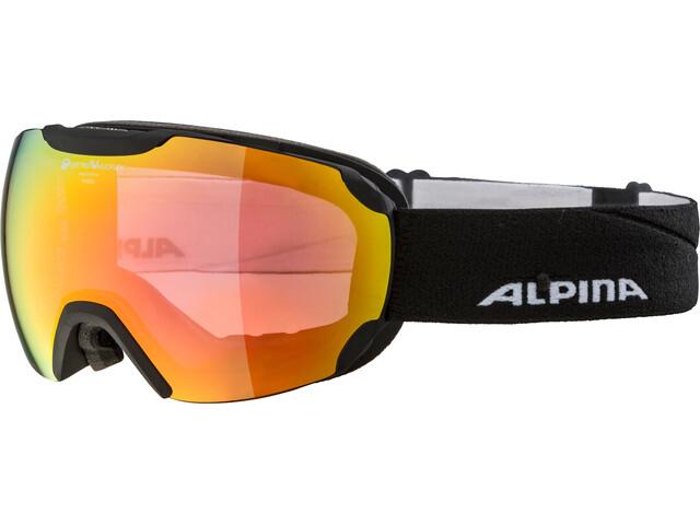 Alpina Pheos QVMM Goggles black matt red spherical